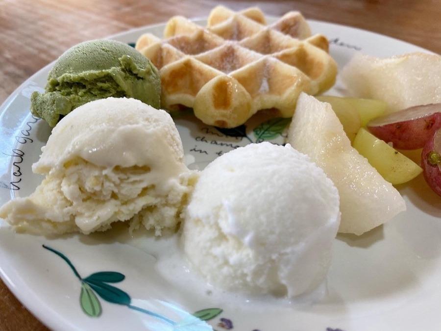 黒木町の手作りアイスクリーム
