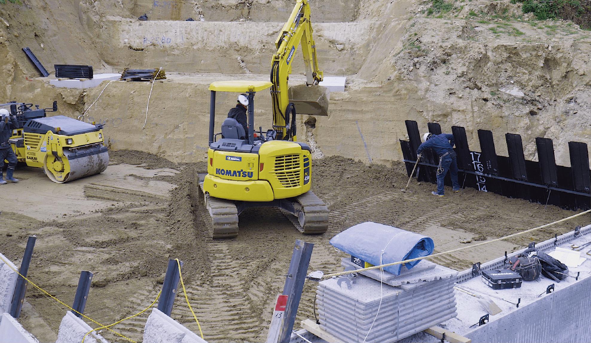 橋脚工事や下水道工事、災害復旧工事